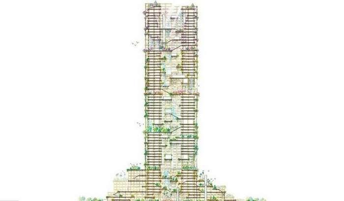 В Токио построят самый высокий в мире деревянный небоскреб-11 фото-