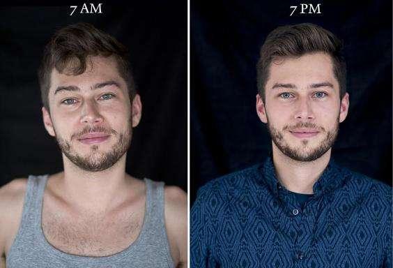 Вид незнакомцев в 7 утра и в 7 вечера