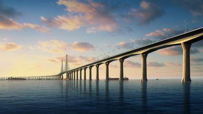Как выглядит самый длинный мост в мире над морем