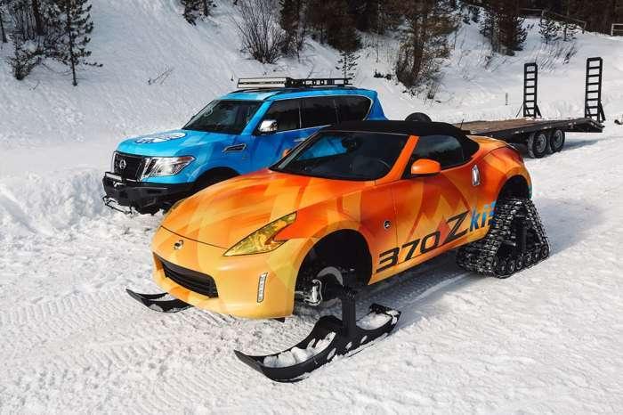 Компания Nissan поставила свой родстер на лыжи и гусеницы и превзошла сама себя