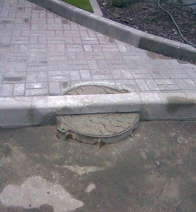 Смех сквозь слезы, или Курьезные ляпы строителей и ремонтников (17 фото)