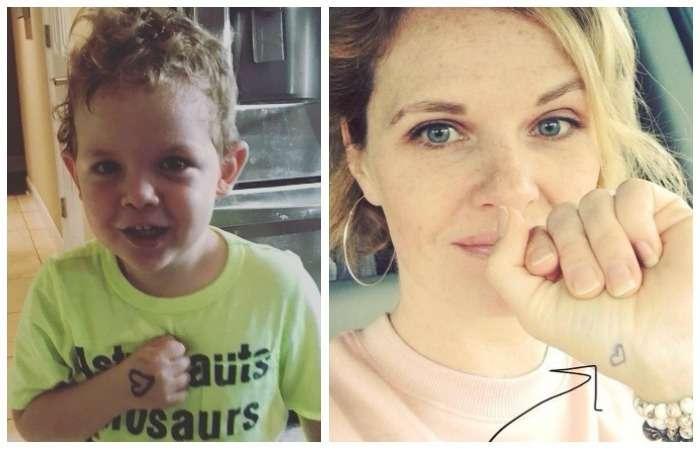 Трогательная причина, почему всем захочется нарисовать себе и ребенку сердечко на ладошках: Неожиданное открытие многодетной мамы