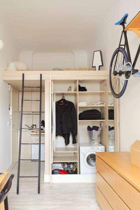 Спальня, кухня, кабинет: планировка квартиры площадью всего 13 кв. метров