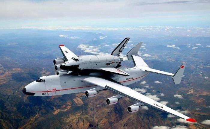 Советский самолет -Мрия-, который способен перевезти космический корабль