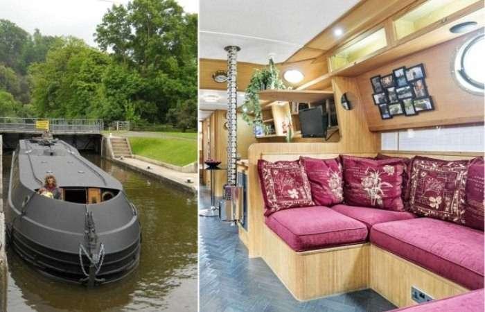 Семья пенсионеров провела 14 лет на воде и построила по-настоящему комфортный плавающий дом