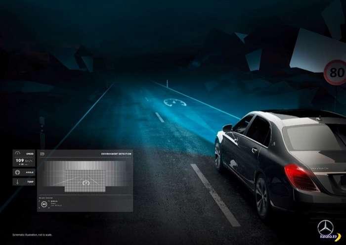 Mercedes засунул проектор в фары!
