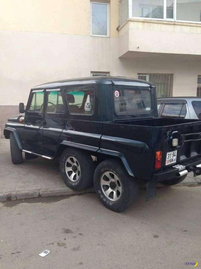 Монгол УАЗ менял мало-мало