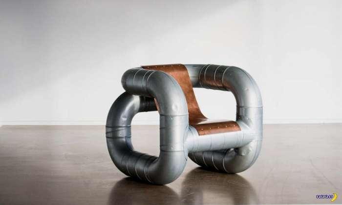 Мебель из вентиляционных труб