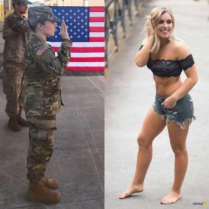 Девушки в форме и без формы!