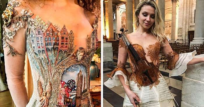 Необычные платья от французского дизайнера Сильви Факон