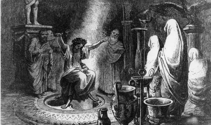 Пифия - жрица-прорицательница Дельфийского Оракула употребляла галлюциногены?