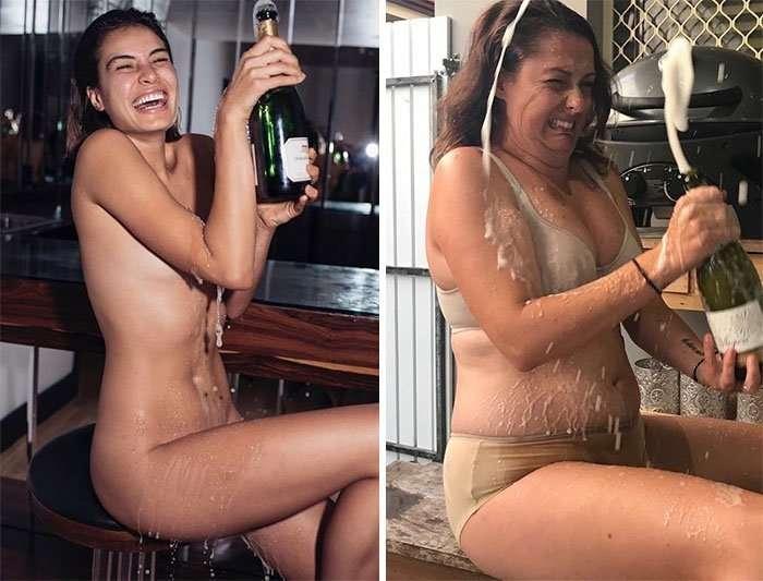Instagram-блогерша продолжает веселить соцсети новыми пародиями на знаменитых красоток