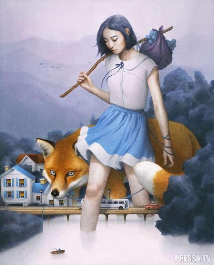 Красочные картины карандашами и фломастерами от Тран Нгуен