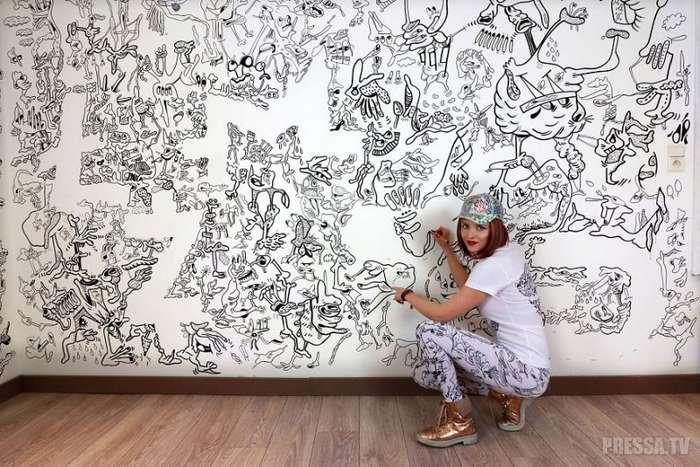 Художница преобразила свой дом при помощи рисунков
