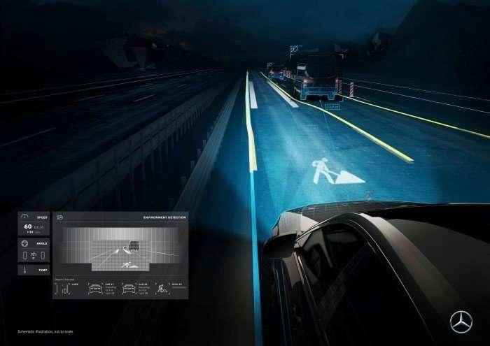 Футуристические фары-проекторы можно будет включить в комплектацию при заказе автомобиля Mercedes-4 фото-