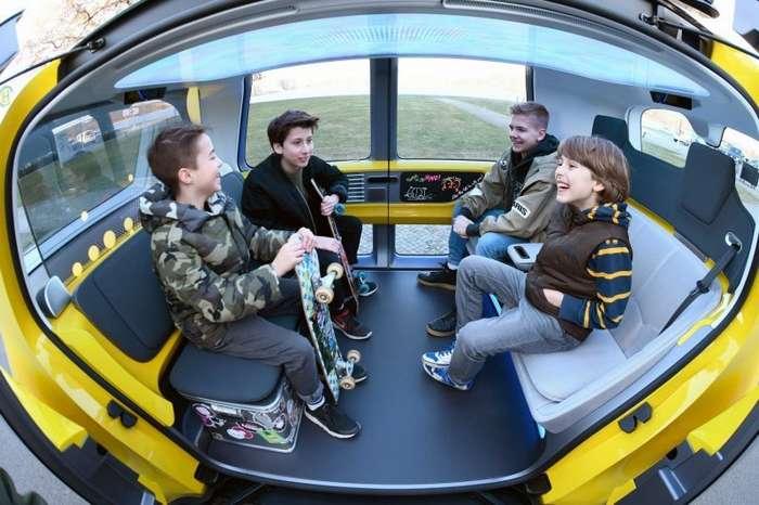 Sedric - прототип беспилотного школьного автобуса от компании Volkswagen-18 фото-