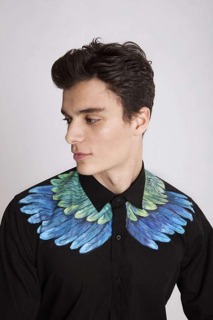 Искусство, которое можно носить: художница рисует красоту на рубашках-23 фото-