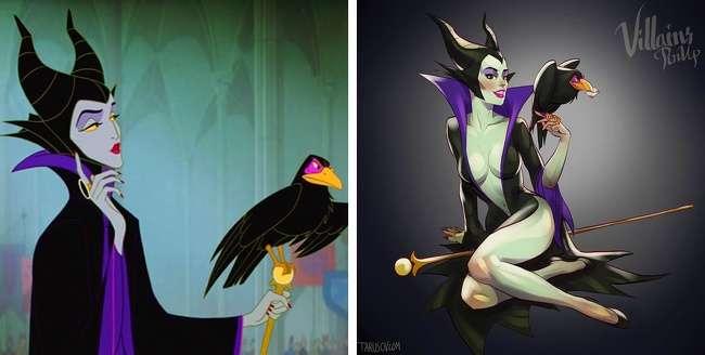 Художник превратил героинь мультфильмов вроковых красоток. Итакими мыихеще невидели