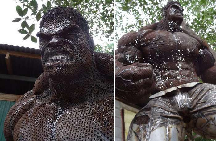 Знаменитые герои фильмов в скульптурах из металлолома