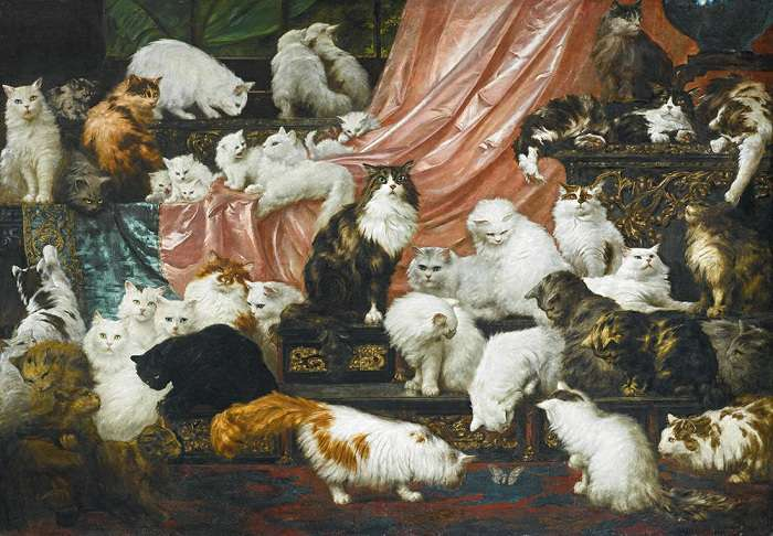 Топ-6 самых дорогих картин с кошками