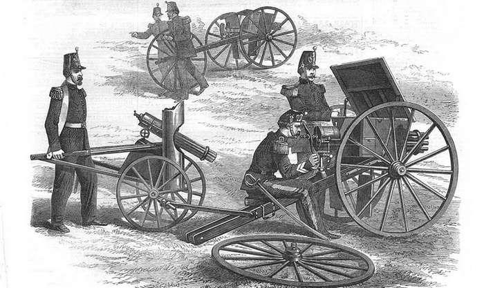 Как был устроен самый безумный пулемет