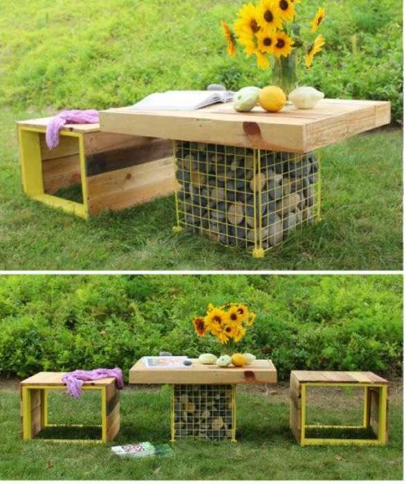 Бюджетная садовая мебель, которую в два счета можно сделать из подручных материалов (18 фото)