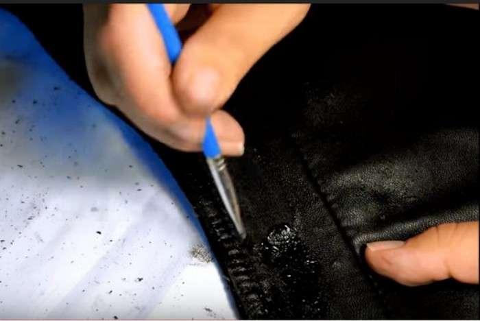Как скрыть даже большие царапины на кожаных вещах и совсем не потратиться