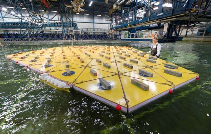 Инновационные плавающие треугольники позволят строить целые городские кварталы на воде