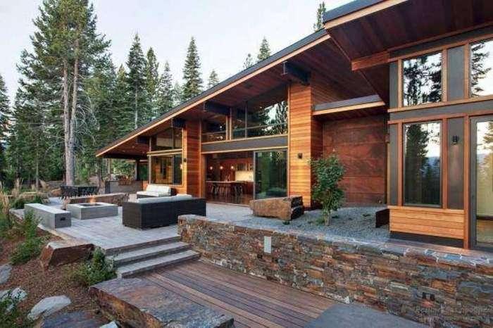 Дома и интерьер в стиле хай-тек, который до сих пор остаётся на пике популярности