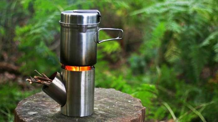 Портативная печь-плита, которая не оставит без огонька на природе в любую погоду