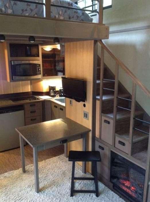 Дом площадью всего 18 кв метров, внутри которого поместится больше вещей, чем в полноценной квартире