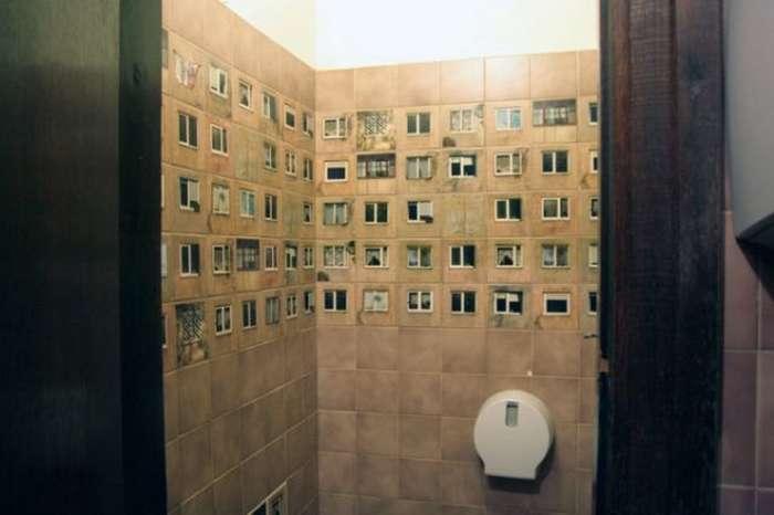 Нестандартный дизайн плитки для ванной комнаты