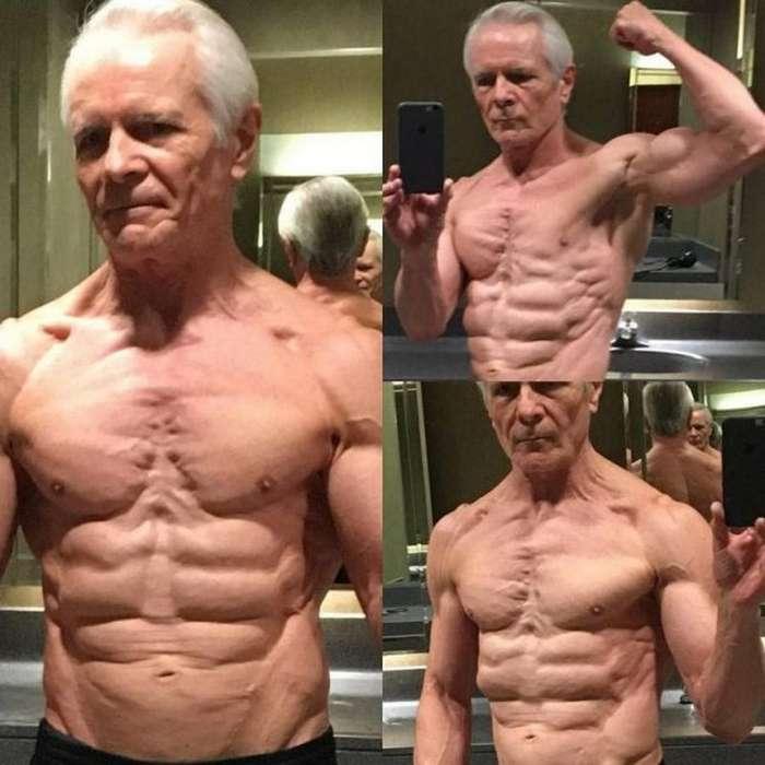 68-летний морпех может гордиться своим стальным прессом