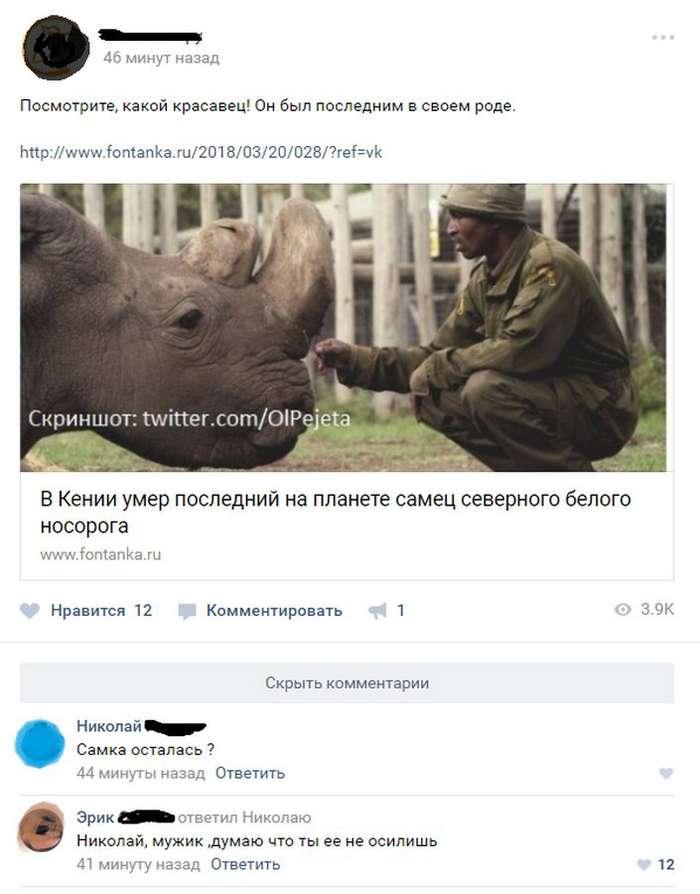 Пятничные смешные комментарии из социальных сетей