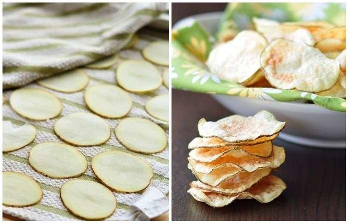 Как сделать картофельные чипсы в микроволновке за 5 минут