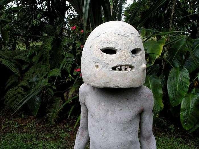 Люди с реки Асаро, покрытые грязью: причудливое племя из Папуа - Новой Гвинеи