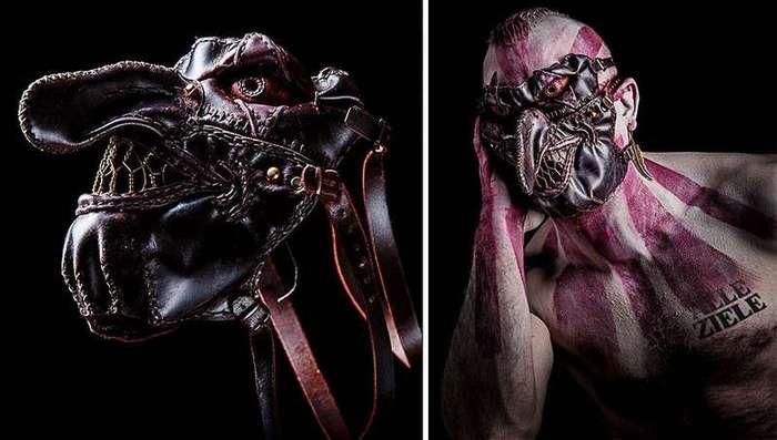 Художник творит монстров из кожи