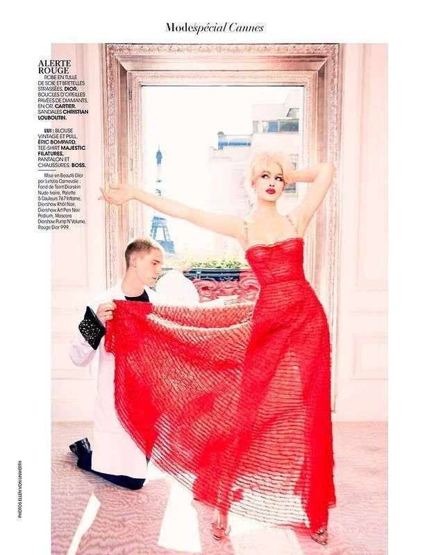 Блондинка Моника Беллуччи для Madame Figaro May 2017