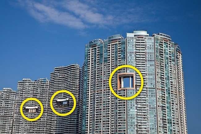 Вот в чем загадка -дырявых- гонконгских небоскребов