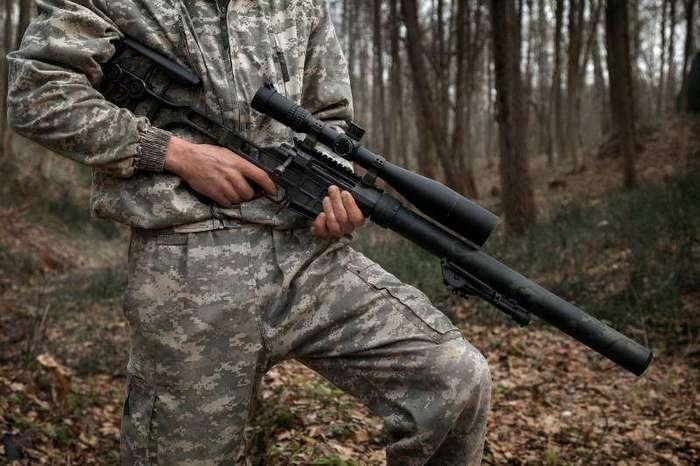 Лёгкая тактическая снайперская винтовка для бесшумной стрельбы ДВЛ-10 М1 «Диверсант»