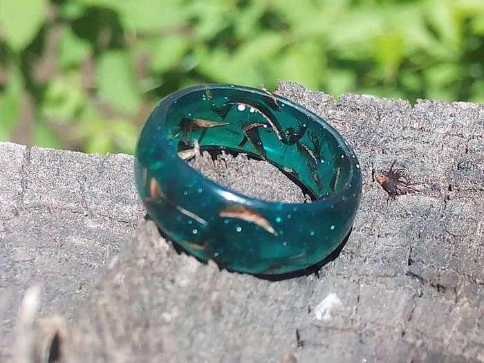 Как сделать кольцо из эпоксидной смолы