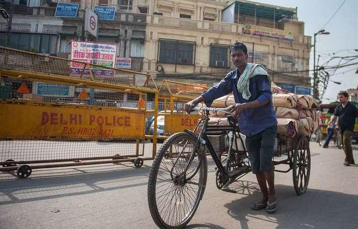 Тяжелая работа рикши