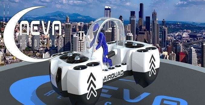 Летающий квадроцикл, который заменит городской наземный транспорт