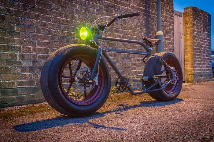 Постройка велосипеда с колесами от автомобиля