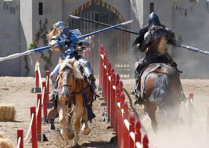 Военные турниры XIV века или как поддерживали себя в форме рыцари