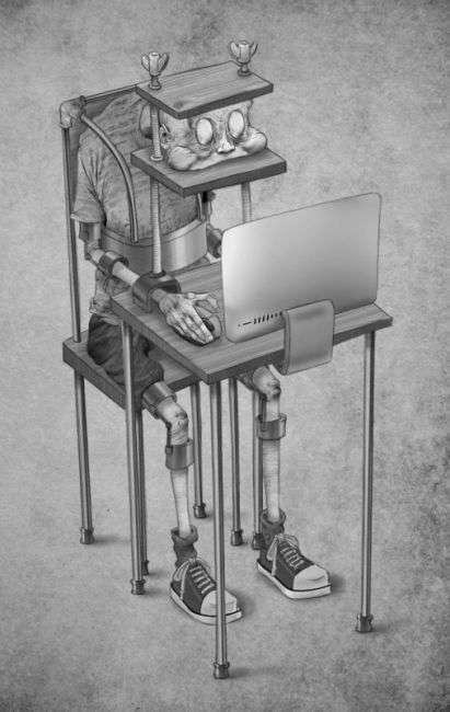 До мурашек: иллюстратор нарисовал современное общество таким, какое оно есть