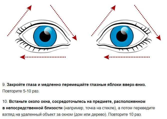 10 быстрых упражнений для улучшения зрения. Работает даже в запущенных случаях.