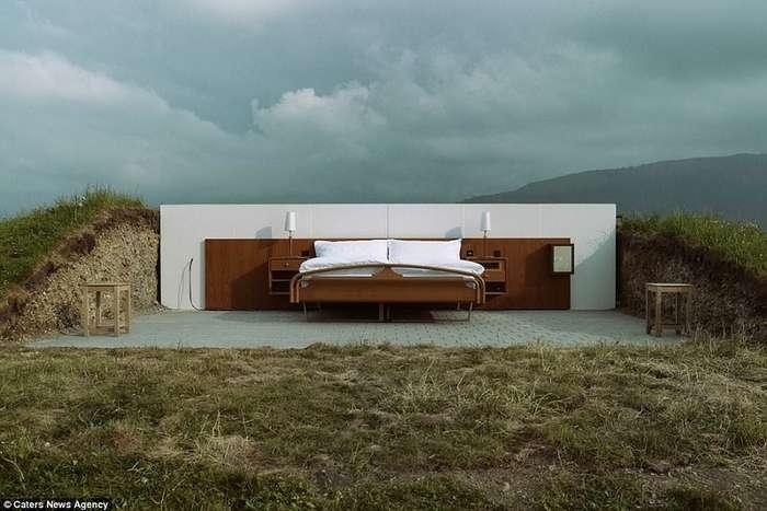 В швейцарском отеле без стен и крыши нет отбоя от постояльцев!