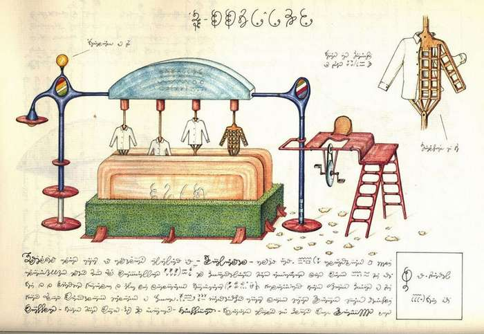 -Кодекс Серафини- – сюрреалистическая энциклопедия вымышленного мира, озадачившая лингвистов