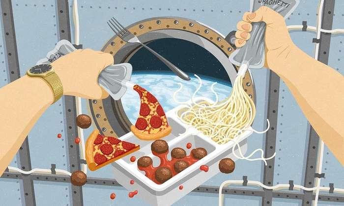 Прошлое, настоящее и будущее космической еды